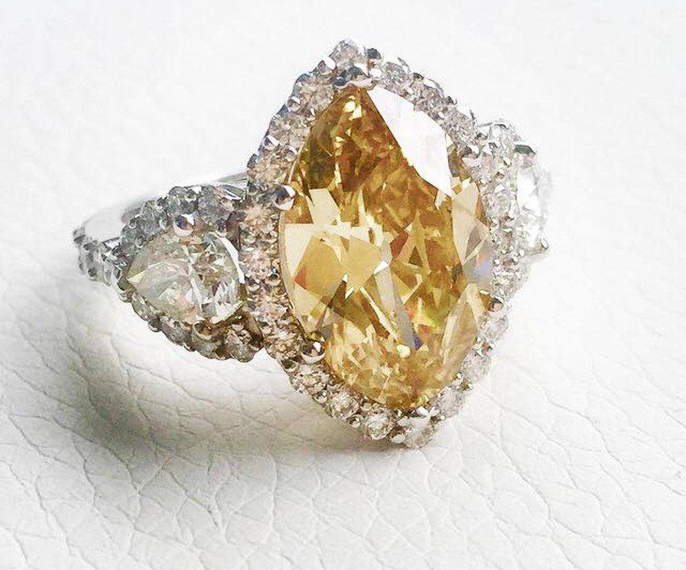 Champagne Marquis Diamond Ring