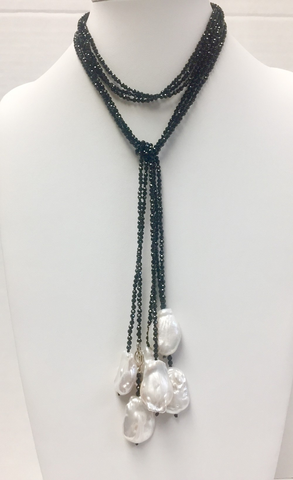 Baroque Pearl Three Strand Wrap Necklace