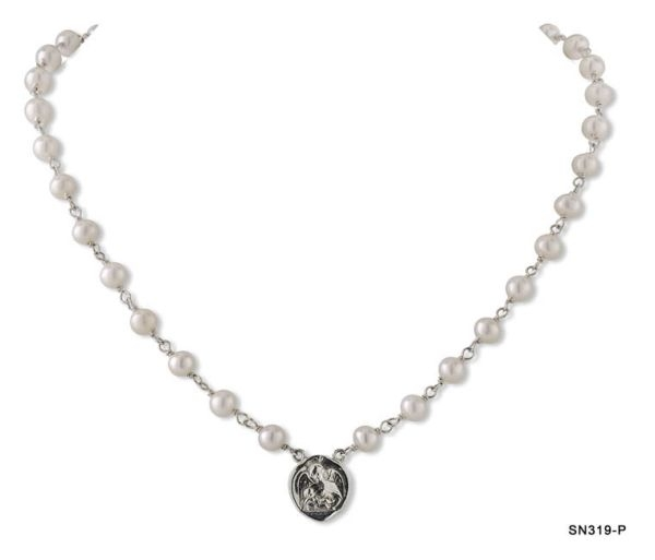 Guardian Angel Pearl Necklace